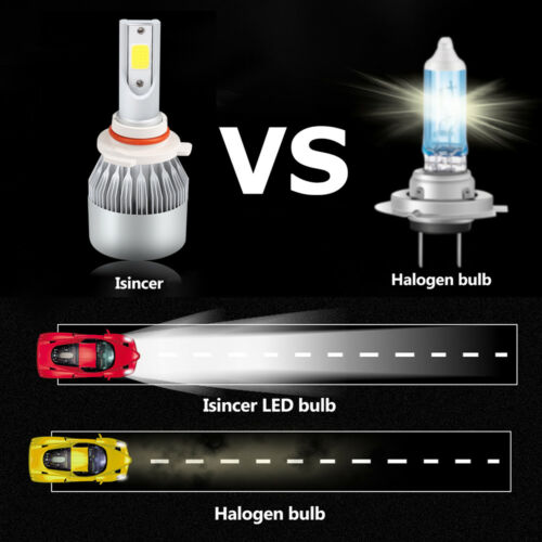 Low Beam LED Headlight /& Fog Light Bulb Combo 9005 /& 9006 /& H11 kit 6PC High