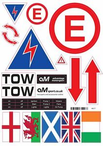 Pre-Cut MSA Scrutineer Safety Sticker Decal Sheet for Race, Rally and Track Day