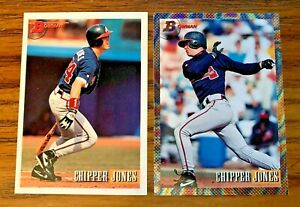 1993-Bowman-CHIPPER-JONES-86-and-347-Foil-Braves