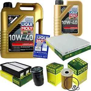 Inspection-Kit-Filter-LIQUI-MOLY-Oil-6L-10W-40-for-Hyundai-IX35-Lm-1-7-Crdi