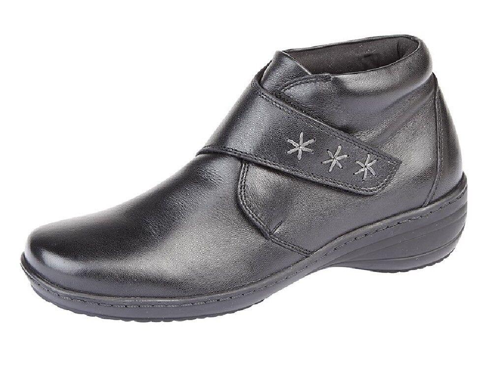 Cipriata L5030 femmes's Soft Leather Adjustable Strap Memory Foam Ankle bottes