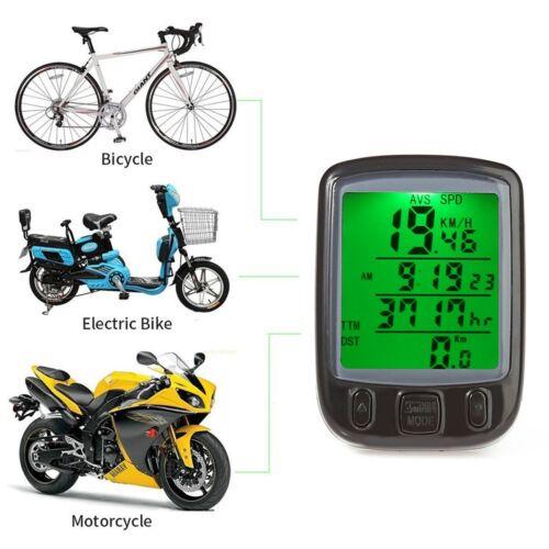 Wired Clear LCD Bike Computer Odometer Waterproof Speedometer Cycle Bicycle