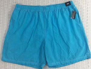 43fb8b677 Roundtree & Yorke Men's Swim Trunks 3XB Aqua Blue NWT $46 New Beach ...