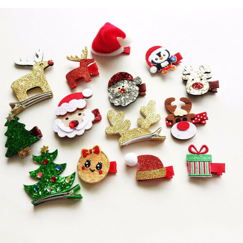 Xmas Gift Santa Claus Deer Hair Clip Hairpin Hair Accessories for Kids Baby Girl