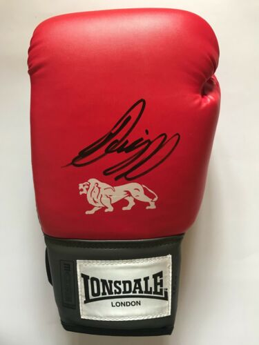 SCOTT QUIGG HAND SIGNED RED BOXING GLOVE EXACT PROOF.