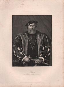 1850 Estampado ~ Duque De Milan ~ Leonardo Da Vinci