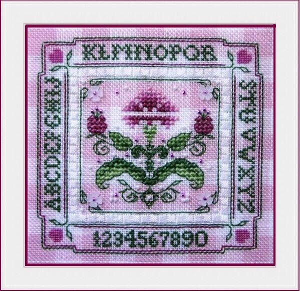 """Tiny Pink Carnation Alphabet Sampler"" Cross Stitch Pattern THE SWEETHEART TREE"