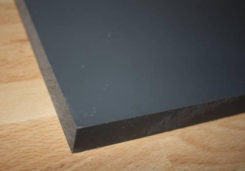 1 Hart PVC Kunststoffplatte dunkelgrau 120x245x15mm