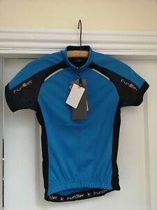 Cycling Jersey Short Sleeve Funkier Rideline Blue//Black Medium