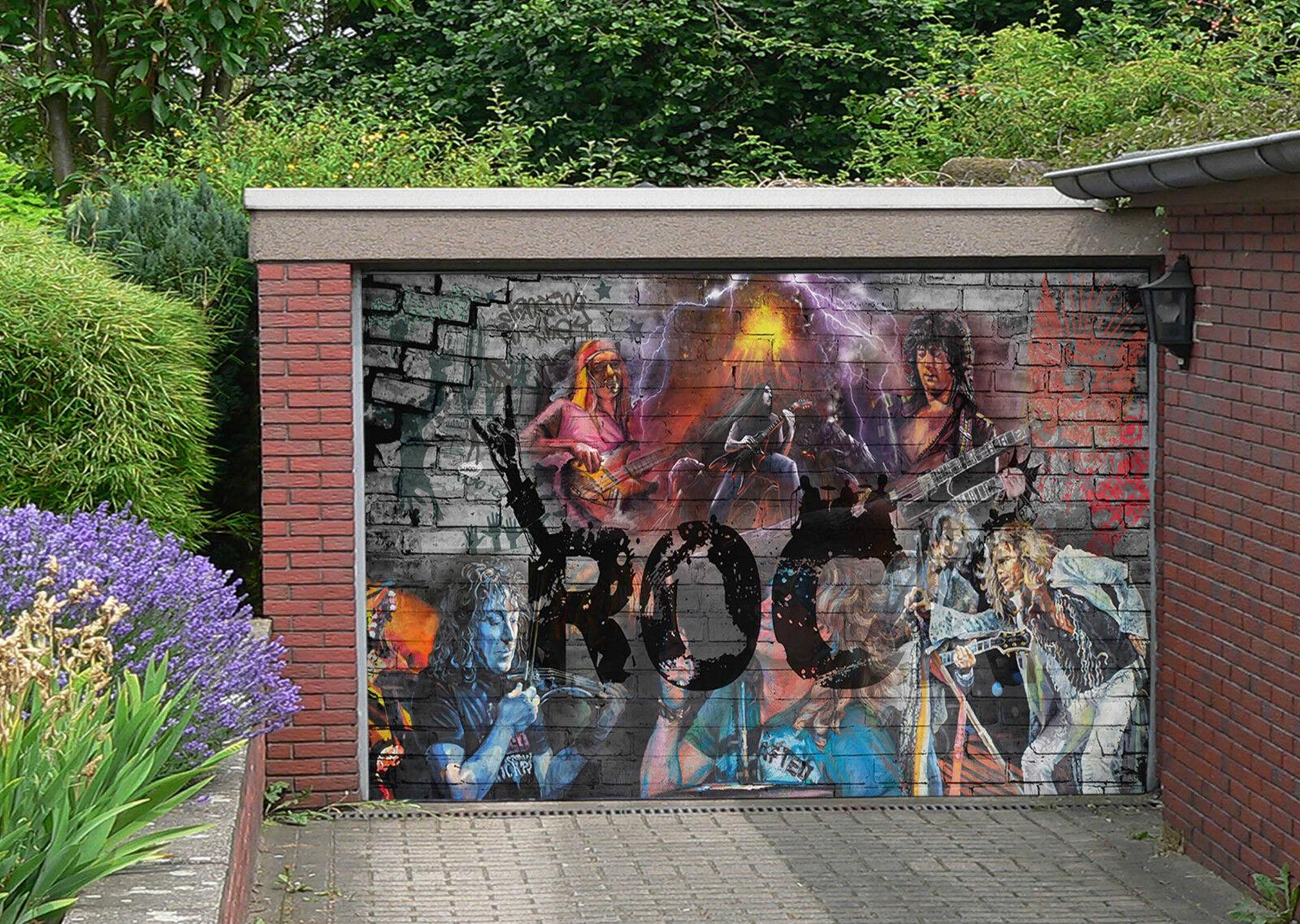 3D Musica Graffiti Garage Porta Stampe Parete Decorazione Murale AJ WALLPAPER IT