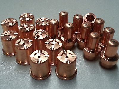 10PC EXTENDED 40AMP PIPE TIP SET FOR EASTWOOD VERSA CUT 60 PLASMA CUTTER TORCH