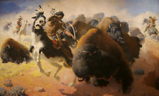 Buffalo Hunt  by William Robinson Leigh   Paper Print Repro