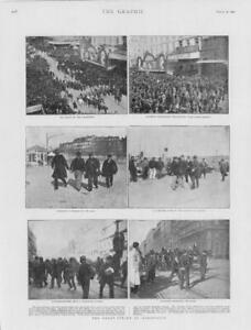 1901-Antique-Print-FRANCE-Marseilles-Great-Strike-Cannebiere-Joliette-244