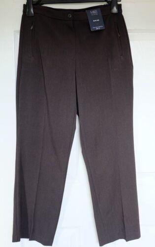M/&S COLLEZIONE due vie STRETCH SLIM LEG tasche con cerniera Pantaloni carbone o di vino