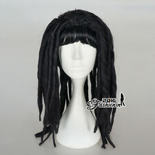Black Long Curly Roll Women Dreadlocks Fashion Hair Synthetic Cosplay Party Wig