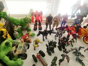 Lot of various action figures. Marvel,Hasbro,Star Wars,Transformers,Cars & more!