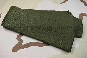 NEW-US-ARMY-SCARF-100-WOOL-Olive-Green-Neck-Warmer-Wrap-USA-Military-Surplus