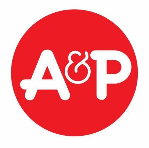 A /& P Supermarket Sticker Decal R490