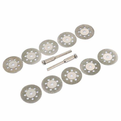 12X Disques Roue Lame Coupe Diamant Dremel Couper Adapte Aux Outils Rotatifs