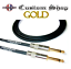 thumbnail 2 - Instrument Cable Conquest Sound CUSTOM SHOP GOLD  Made in USA