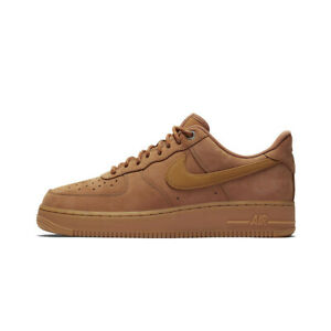 SCARPE-NIKE-AIR-FORCE-1-039-07-BEIGE-GRANO-MARRONE-CJ9179-200-UOMO-ORIGINALI-2020