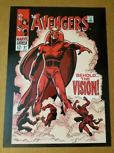 Avengers-57-1st-Vision-Marvel-Comics-Poster-by-John-Buscema