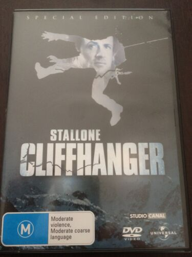 """1 of 1 - """"Cliffhanger"""" Sylvester Stallone (Special Edition DVD, 2005, PAL Region 4) *GC*"""