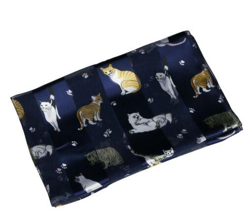 Cats Print Silky Satin Soft Ladies Scarf Shawl Wrap