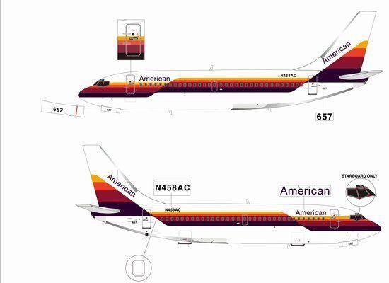 Jet-L Americano, Boeing 737-200,  n 458 AC  híbrido Colorees  jetl 082