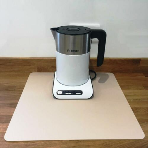 Square Kitchen Worktop Savers in Latte Beige Mat Finish Acrylic 3mm