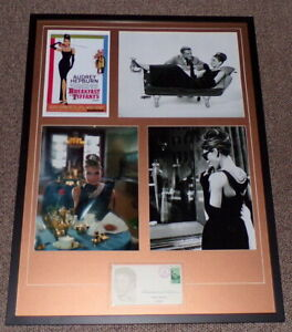 Audrey-Hepburn-Signed-Framed-25x33-Breakfast-at-Tiffany-039-s-Photo-Display-AW