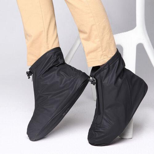 Waterproof Shoes Cover Reusable Anti-slip Rain Boot Motorcycle Bike Overshoes