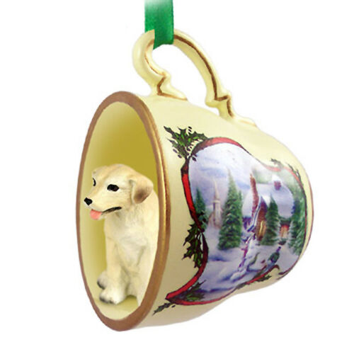 Yellow Lab Christmas Ornament Teacup