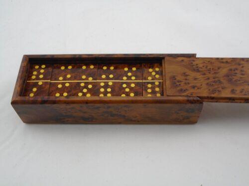 Brillante Domino Spiel aus Thuja Holz-Würzel Holz Marokko 20 cm lang