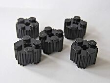 NEW Lego BLACK ROUND BRICK  2x2 with Grille - Lot/5