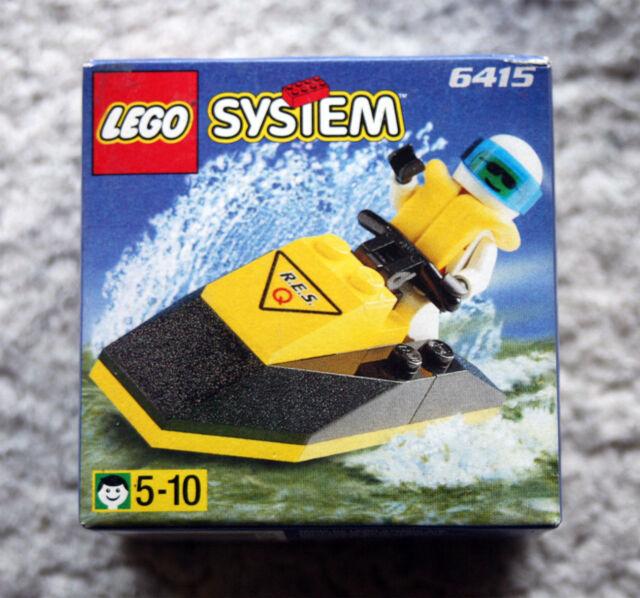 LEGO SYSTEM: JET SKI (RES-Q, 6415). MINI FIGURES, BRAND NEW IN BOX! NUEVO!