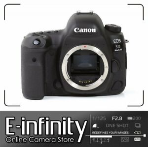 NEUF Canon EOS 5D Mark IV DSLR 30.4MP Full-Frame Camera Touchscreen (Body Only)
