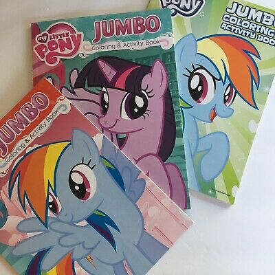 - My Little Pony Coloring Book Set 2 Activity Books With 24 Crayons Kids  Learning Sumo.ci