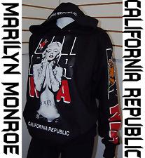 Men' Marilyn Monroe Cali Pullover Sweater Hoodie,Black California Republic Sz L
