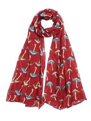 Mushroom  Print Scarf  Fashion Ladies Soft Wrap Cover-up Shawl Scarves 3 Colours