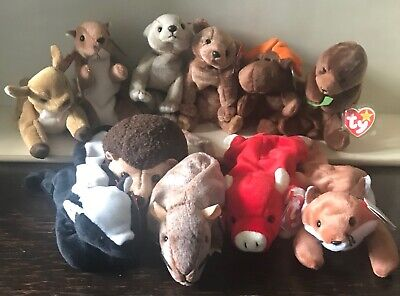 RETIRED TY Beanie Babies Lot of 7 Sea Creatures **NO DUPLICATES** MWMT