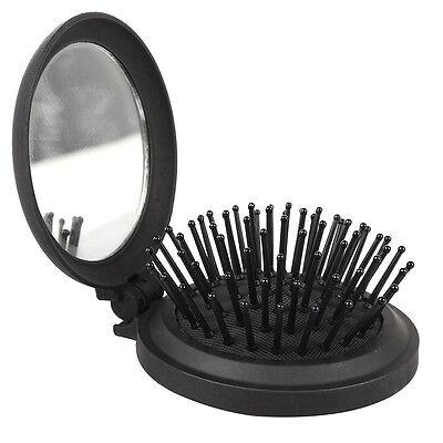 Pretty Protable Folding Comb With Mirror Magic Health Massage Brush Hair Comb
