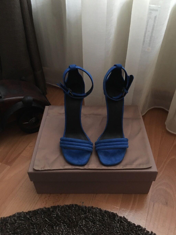 Celine Tronchetti Strap Sandali TAGLIA 38,5 BLU ROYAL