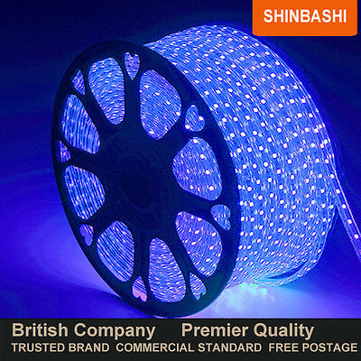 PREMIER IP66 240v Warm White SMD 3528 LED Ribbon Strips Rope Lights  FULL SET UK