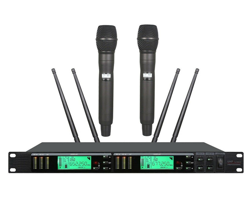UHF Wireless Handheld Theater Microphones System True Diversity For Shure SM58