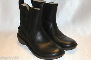 29996550478 Details about NEW! UGG Australia NEEVAH Black Leather Round Toe Zip Ankle  Boots Sz 6 EU37