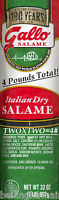 Gallo Italian Dry Salame Salami Chubs Four Pounds The 1 Selling Fast Free Ship