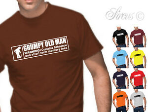 9047c6b7e MENS GRUMPY OLD MAN WARNING FUNNY T-SHIRT NOVELTY T SHIRT BIRTHDAY ...