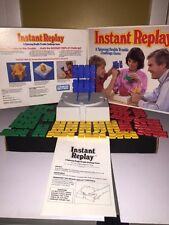 INSTANT REPLAY spinning double trouble challenge game, Parker Brothers, 1987