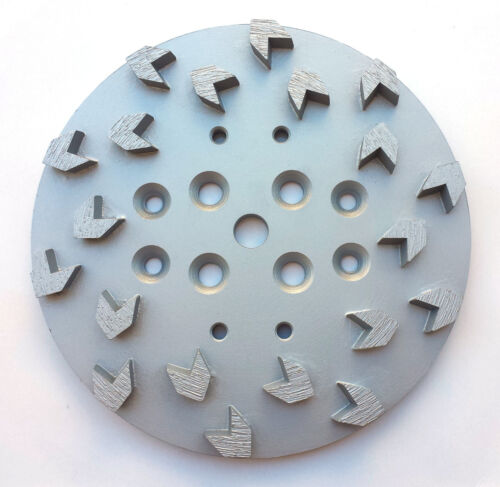 "NEW10""Pro Concrete Grinding Head Disc Plate for Edco Floor Grinder-20 Arrow Segs"